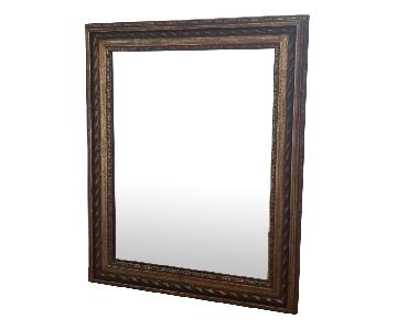 Gold Framed Wall Mount Mirror