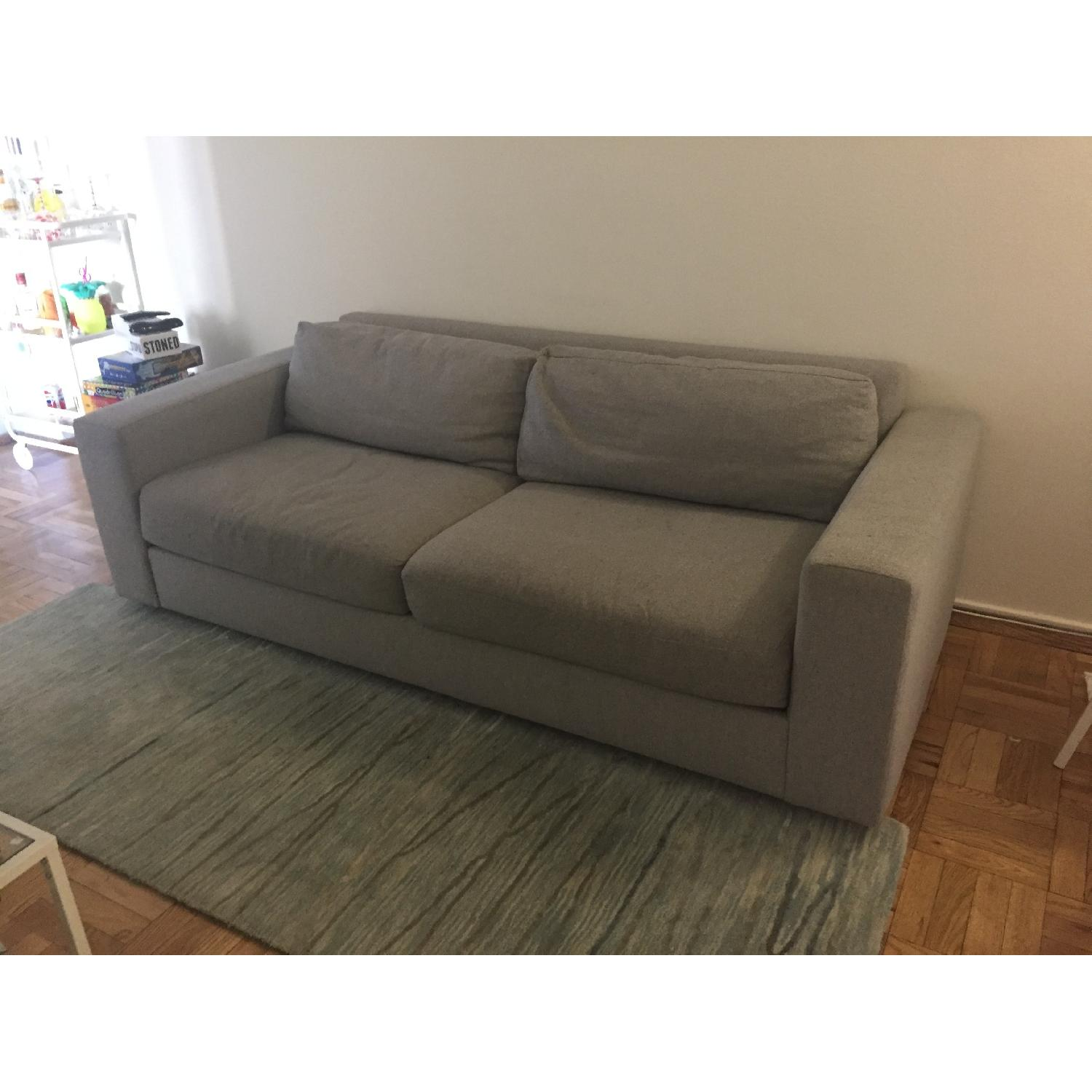 West Elm Feather Gray Urban Sofa 0