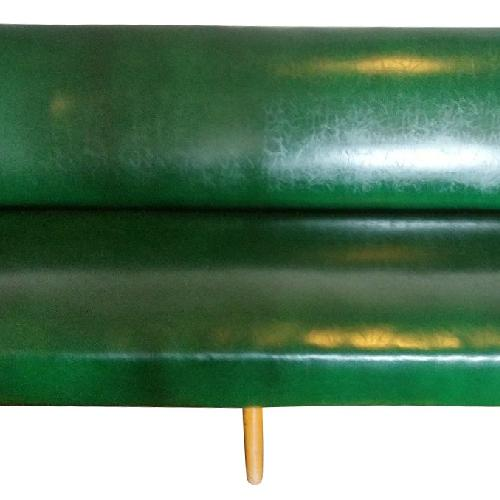 Used J.B. Van Sciver Co. Green Leather Couch + 2 Chairs for sale on AptDeco