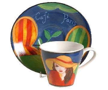 Misono Cafe de Paris Flat Cup & Saucer Set