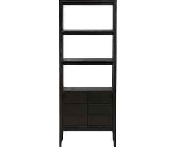 Crate & Barrel Spotlight Ebony Bookcase