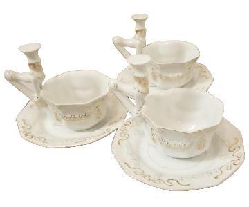 Mepoco Ware Vintage Cups & Saucers