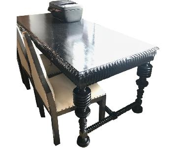 Hand Crafted Wood Dining Table/Desk