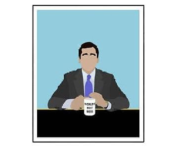 The Office Minimalist Framed Poster
