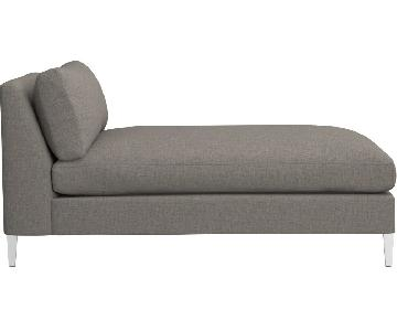 CB2 Cielo II Sectional Armless Chaise in Shadow Grey