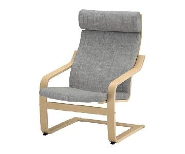 Ikea Poang Armchair in Grey & Birch