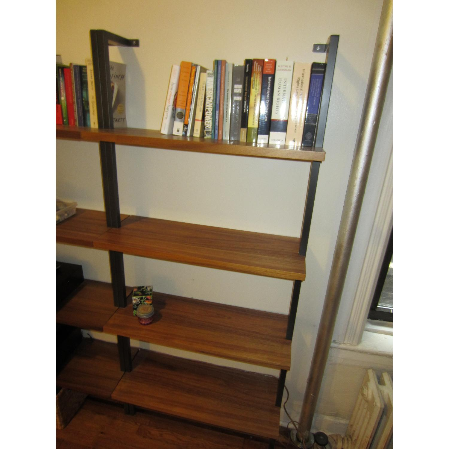 CB2 Helix Bookcases In Acacia 2