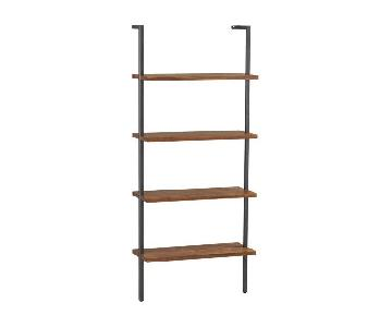 CB2 Helix Bookcases in Acacia