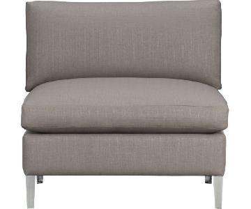 CB2 Cielo II Sectional Armless Chair in Shadow Grey
