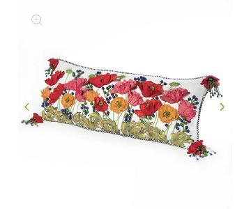 Mackenzie-Childs Red Poppy Lumbar Pillow