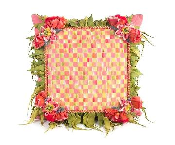 Mackenzie Childs Blushing Bouquet Square Pillows
