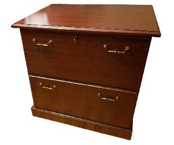 Brown 2-Drawer Filing Cabinet