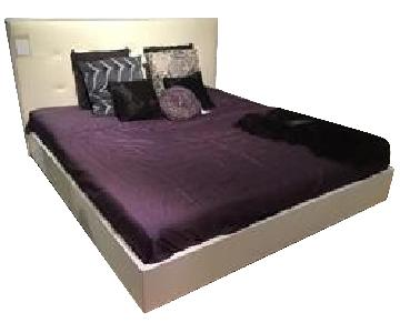 BoConcept Lugano King Size Bed w/ Leather Headboard