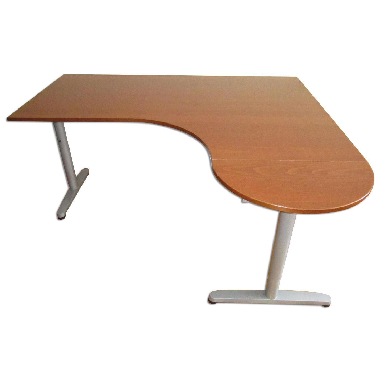 Ikea Right Corner Galant Office Desk w/ Extension