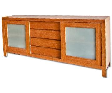 Crate & Barrel Wood Buffet