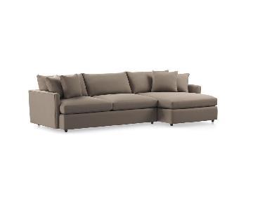 Crate & Barrel Lounge II Sectional Sofa
