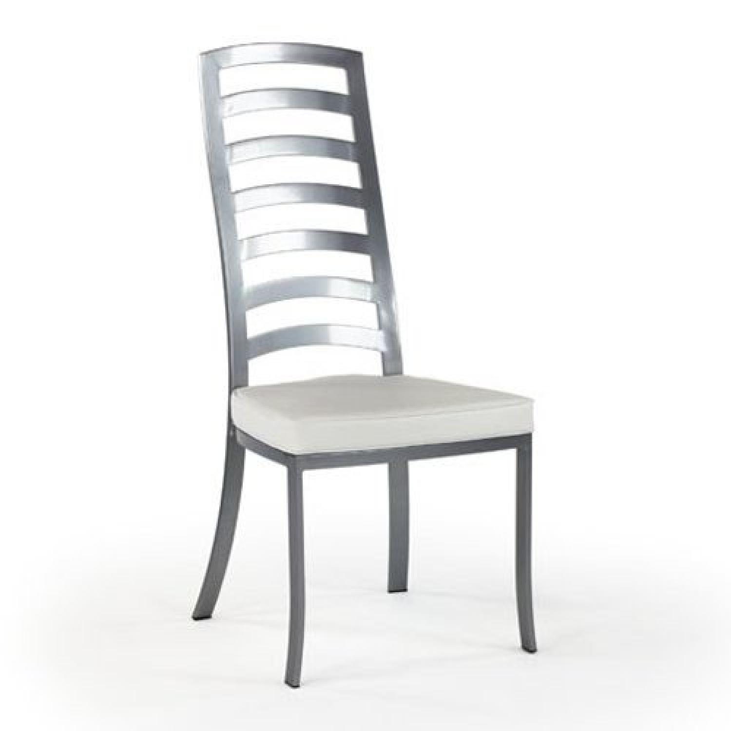 Johnston Casuals Furniture White U0026 Pewter Dining Chair ...