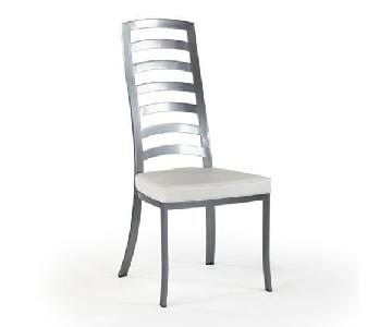 Johnston Casuals Furniture White & Pewter Dining Chair