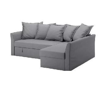 Ikea Holmsund Sleeper Sectional Sofa w/ Storage