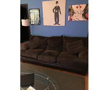 Bob's Chocolate 3 Seater Sofa w/ Pillows