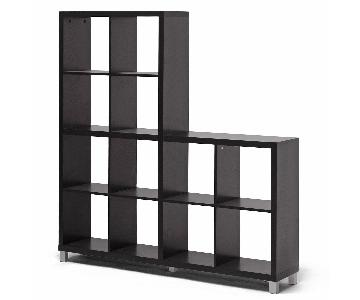 Modern Black Bookcase