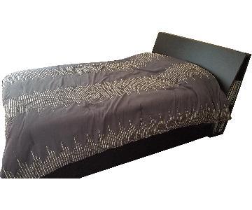 Ikea Oppdal Storage Bed Frame w/ Headboard