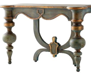 Vintage Wood Entry Console in Antiquirian Blue