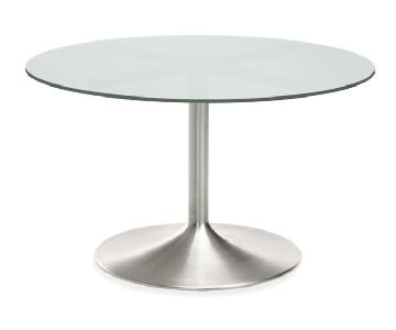 Room & Board Aria White Glass Table