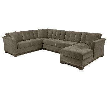 Macy's Elliot Gray Fabric 3-Piece Sectional Sofa