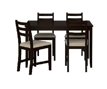Ikea Lerhamn Dining Table w/ 4 Chairs