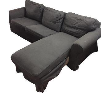 Dark Grey 2-Piece Sectional Sofa