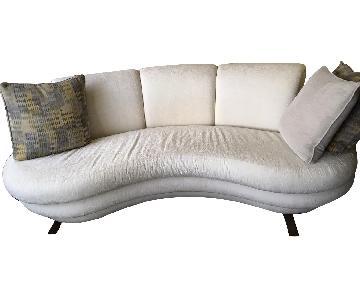 Contemporary Kidney Shaped Sofa