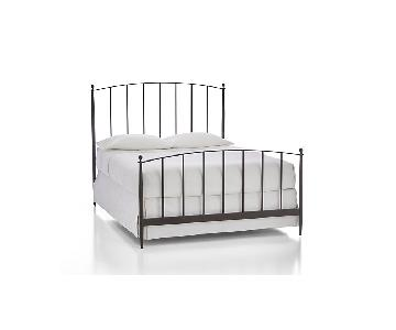 Crate & Barrel Farm House Style Full Size Metal Bed