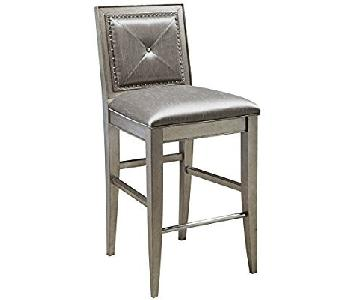 Pulaski Furniture Farrah Silver Metallic Bar Stools