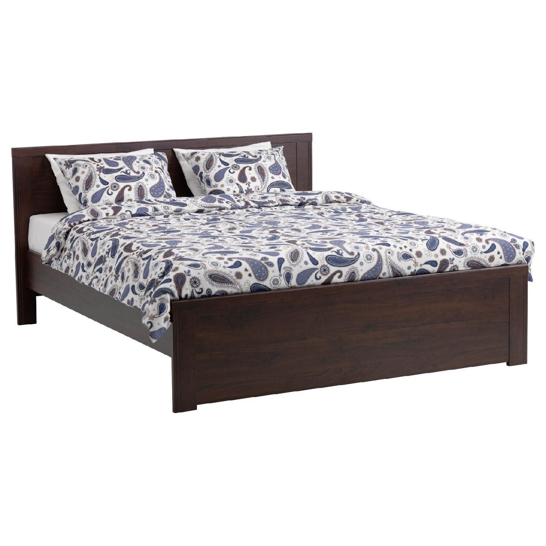 Ikea Brusali Full Bed Frame - AptDeco