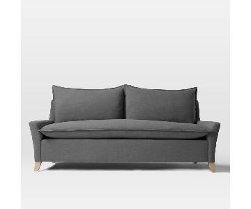 West Elm Bliss Down-Filled Sofa in Linen Gravel