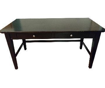 Black Wood Desk & Chair