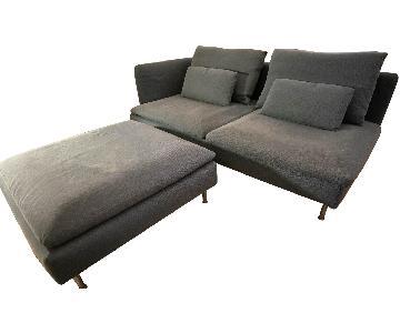 Ikea Finnsta Turquoise Soderhamn Sofa & Ottoman
