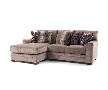 Bob's Dark Brown 2 Piece Sectional Sofa w/ Chaise