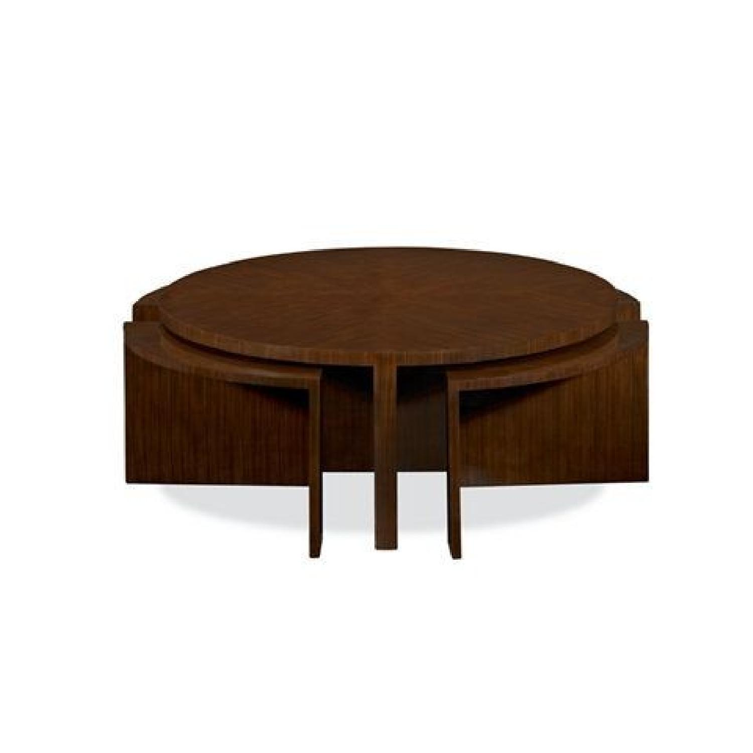 Ralph Lauren Modern Cocktail Table W/ Pullout Nesting Tables ...
