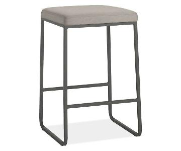Room & Board Collins Stools w/ Fabric Seat