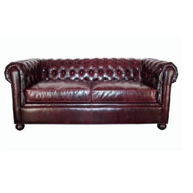 Club Furniture Leather Chesterfield Full Size Sleeper Sofa ...