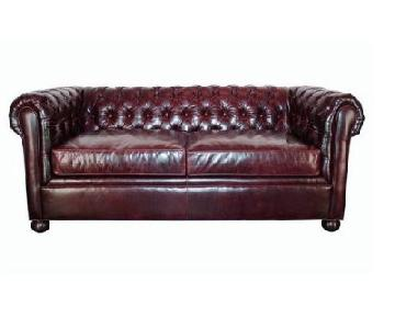 Club Furniture Leather Chesterfield Full Size Sleeper Sofa
