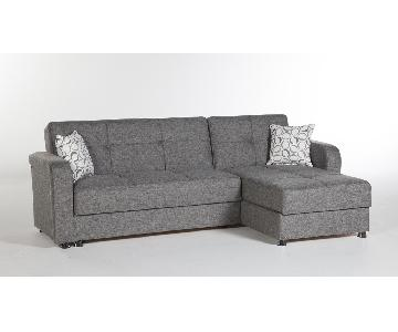 Istikbal Vision Diego Gray Sectional Sofa
