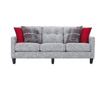 Raymour & Flanigan Finnegan Grey 3 Seater Sofa