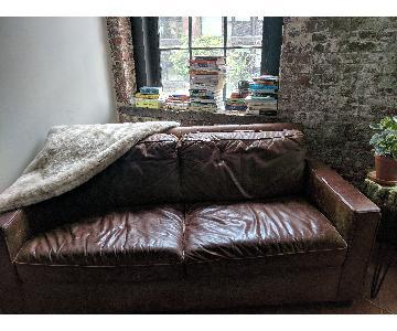 West Elm Urban Leather Sofa