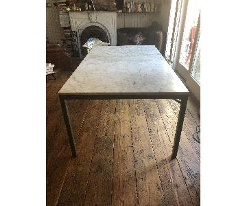 Crate & Barrel Marble Top Dining Table