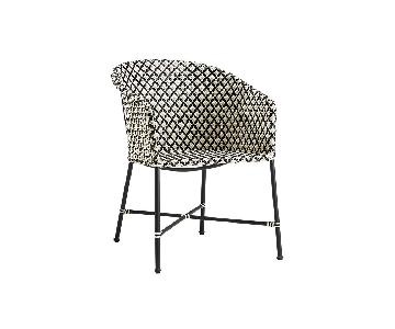 CB2 Brava Black & White Patio Chairs
