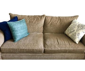 Macy's Beige Sofa + Armchair