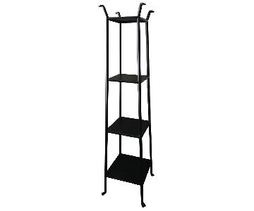 Crate & Barrel: Black Iron Bookshelves/Tower